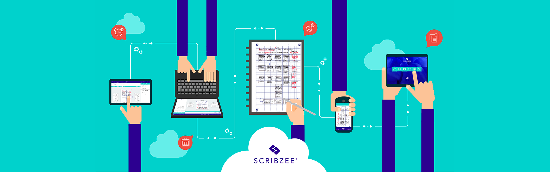 Application SCRIBZEE, gestion des notes manuscrites